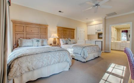 Two queen beds with private bath